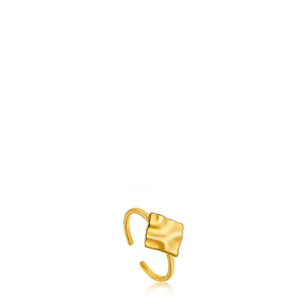 Ania Haie Crush Square Adjustable Ring - Gold