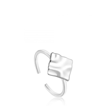Ania Haie Crush Square Adjustable Ring - Metallic