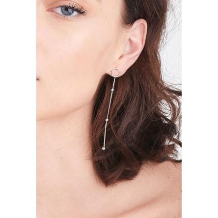 Ania Haie Modern Beaded Hoop Earrings - Metallic