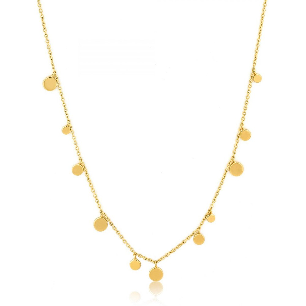Ania Haie Geometry Mixed Discs Necklace Gold