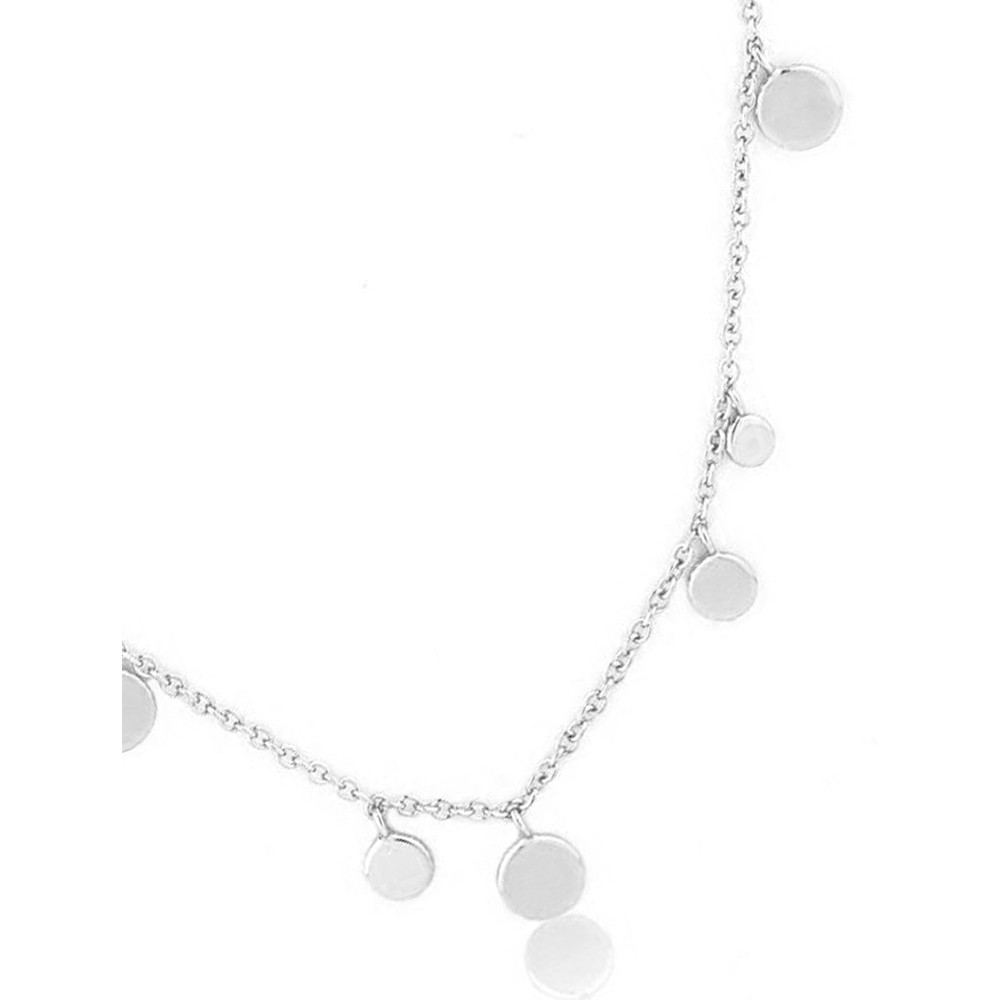 Ania Haie Geometry Mixed Discs Necklace Silver