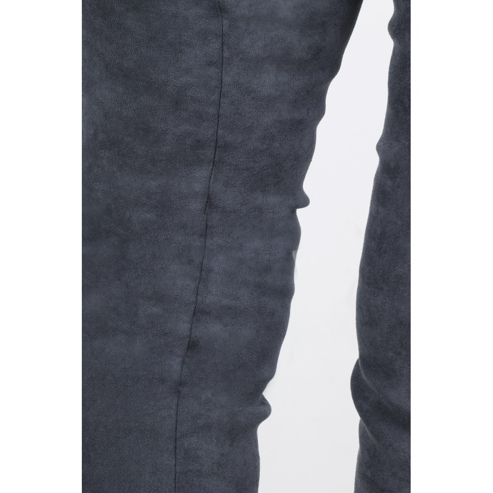 Robell Rose Grey Stretch Faux Suede Trouser Grey