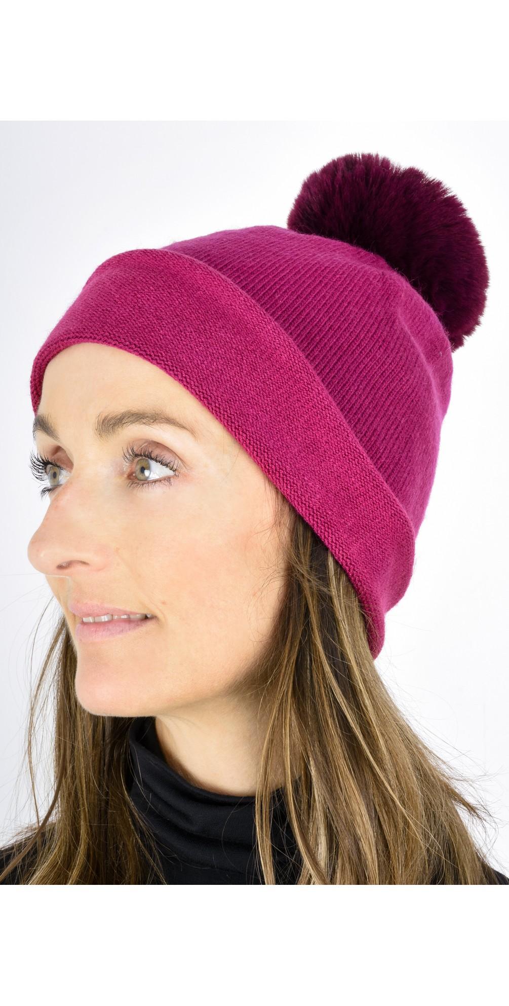 Ripley Faux Fur Pom Beanie Hat main image