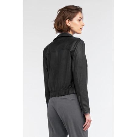 Sandwich Clothing Waxy Suedine Biker Jacket - Black