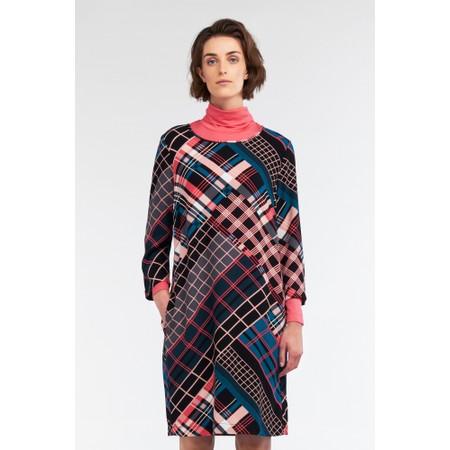 Sandwich Clothing Bold Multi Check Print Dress - Pink