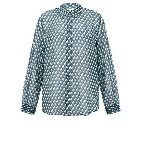 Sandwich Clothing Geometric Cube Print Blouse - Blue
