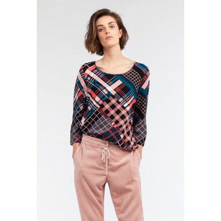 Sandwich Clothing Bold Multi Check Print Top - Pink