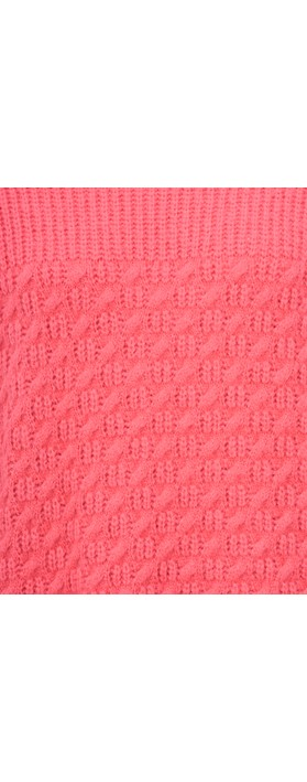 Sandwich Clothing Alpaca Cross Detail Chunky Jumper Intense Pink
