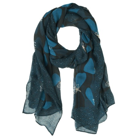 Sandwich Clothing Floral Print Scarf - Blue