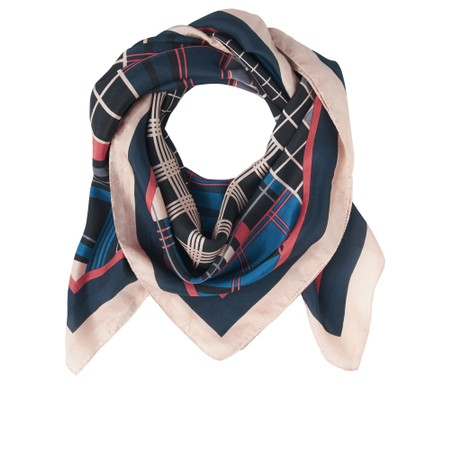 Sandwich Clothing Bold Multi Check Print Silk Scarf - Pink