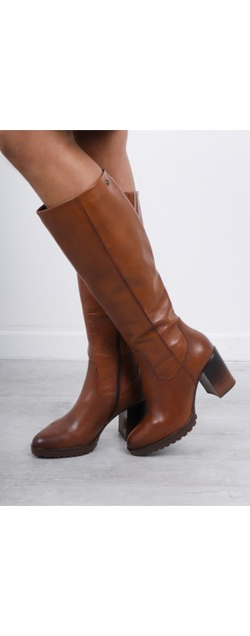 Tamaris  Hibiscus Heeled Long Boot Cognac