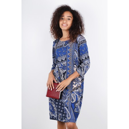 Sandwich Clothing Paisley Collage Print Dress - Blue
