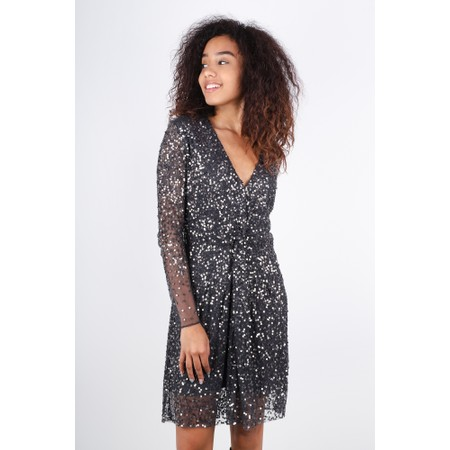 French Connection Emille Sparkle Dress - Metallic