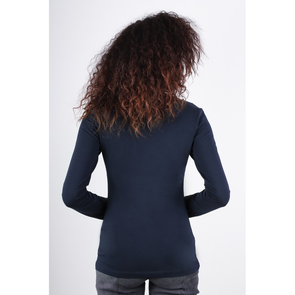 Great Plains Essentials Fitted Stretch Top Classic Navy
