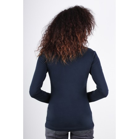 Great Plains Essentials Fitted Stretch Top - Blue