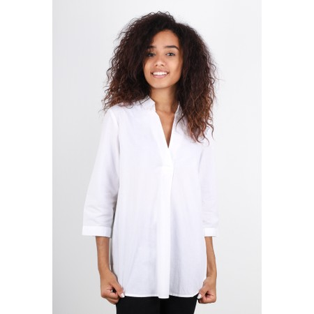 Great Plains Weekend Shirting 3/4 Sleeve Shirt - White