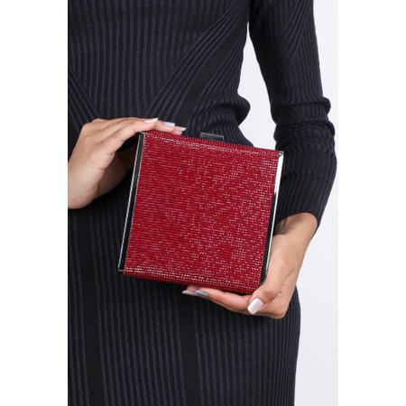 Bell & Fox Sadie Crystal Square Box Clutch - Multicoloured