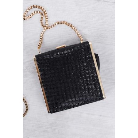 Bell & Fox Sadie Crystal Square Box Clutch - Black