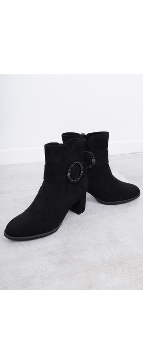 Marco Tozzi Lodie Buckle Detail Ankle Boot Black