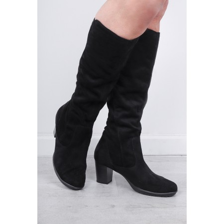 Marco Tozzi Imit Long Stretch Boot - Black