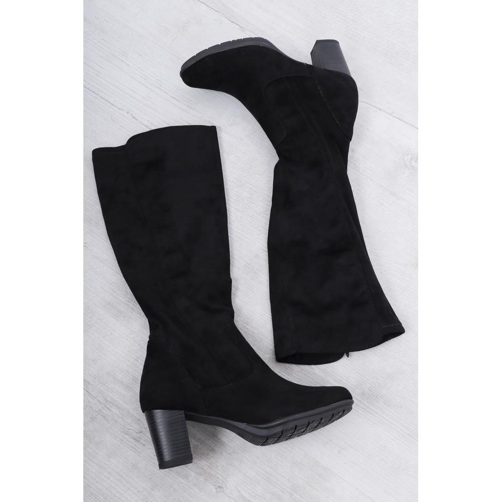 Marco Tozzi Imit Long Stretch Boot Black