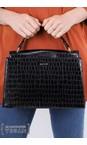 Inyati Black Croco Olivia Croco Top Handle Bag