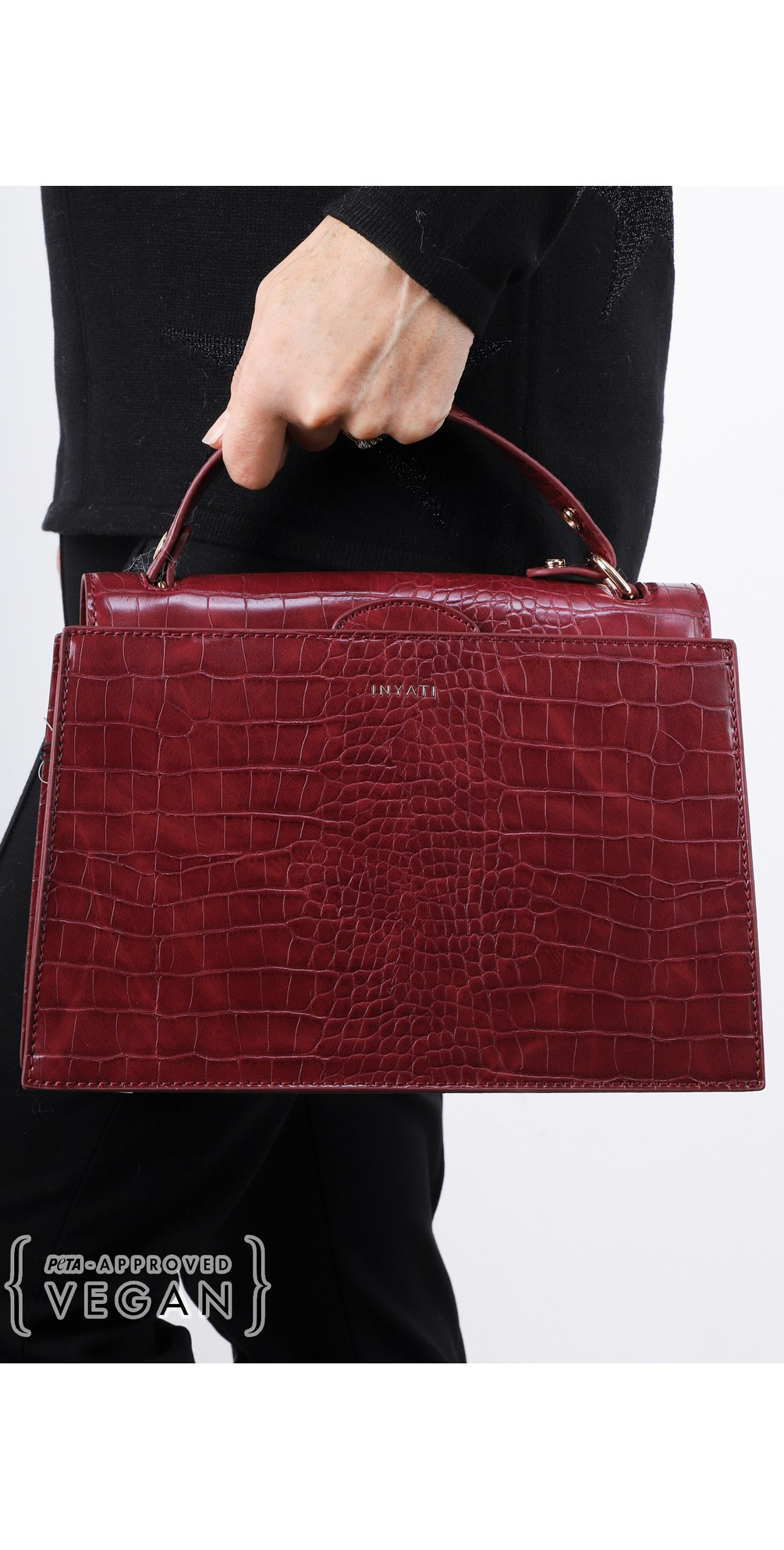Olivia Croco Top Handle Bag main image