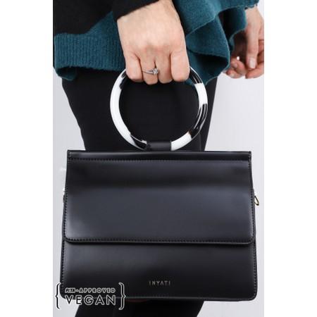 Inyati  Coco Faux Leather Loop Handle Crossbody Bag - Black