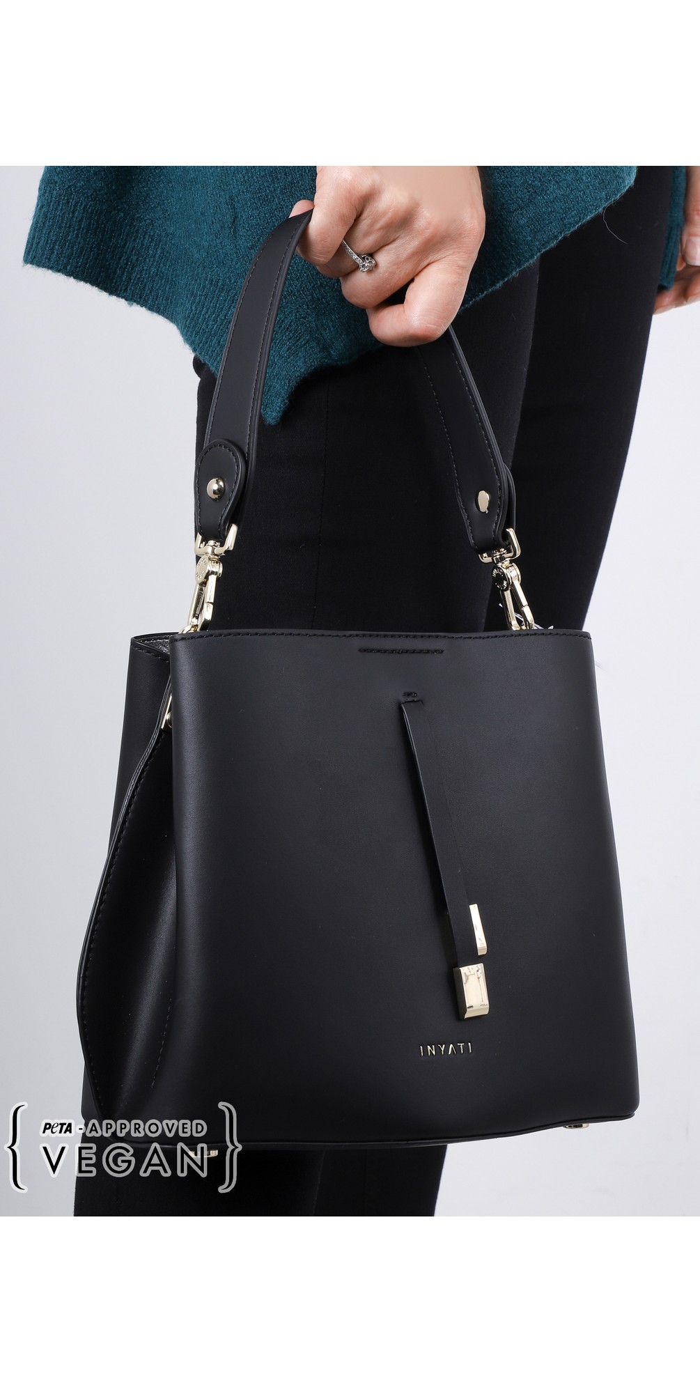 Cleo Faux Leather Bucket Bag  main image