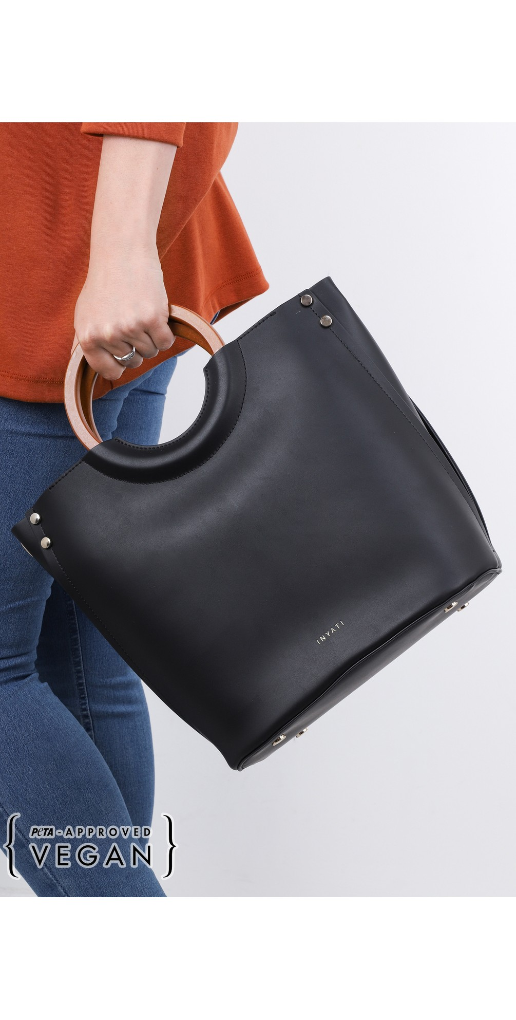 Viviana Faux Leather Top Handle Bag main image