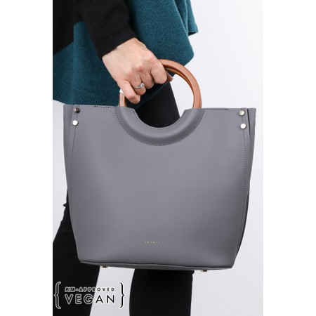 Inyati Viviana Faux Leather Top Handle Bag - Grey