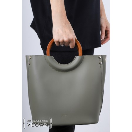 Inyati Viviana Faux Leather Top Handle Bag - Green