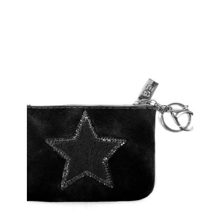 Eliza Gracious Star Crystal Embellished Purse - Black