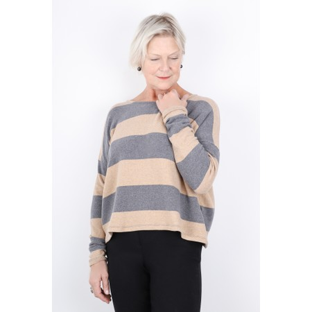 Mama B Cadice Stripe Top - Grey