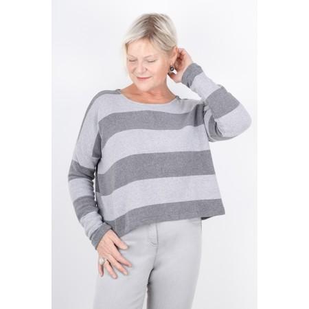 Mama B Cadice Stripe Top - Grey