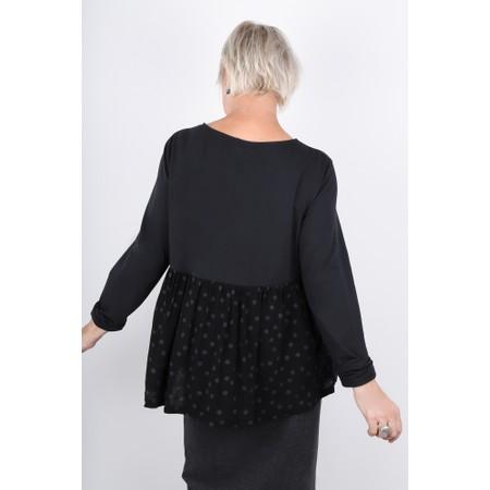 Mama B Kigali Top With Frill Back - Black