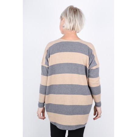 Mama B Sunny Stripe Swing Top - Grey
