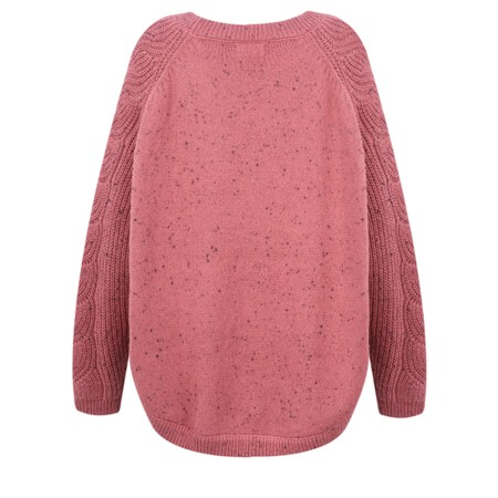 Masai Clothing Oversized Fransine Knit  - Red