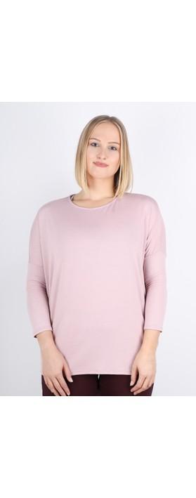 DECK Kiera Soft Drape Jersey Top Dusky Pink