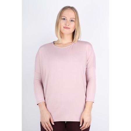 DECK Kiera Soft Drape Jersey Top - Pink