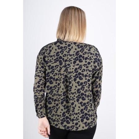 Masai Clothing Bella Leopard Print Blouse - Green