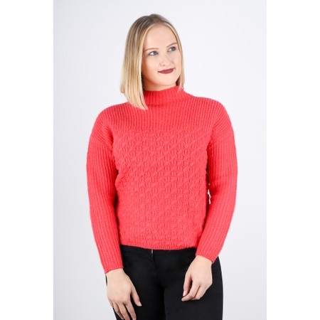Sandwich Clothing Alpaca Cross Detail Chunky Jumper - Pink