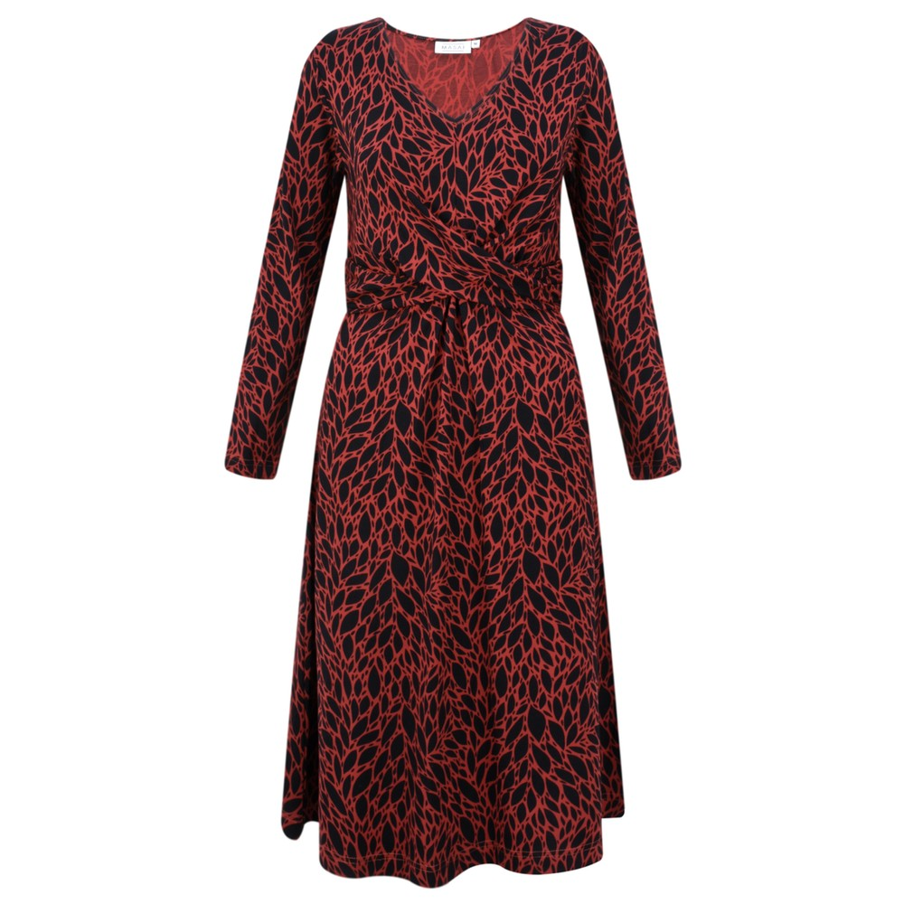 Masai Clothing Nia Dress Red Ochre Org