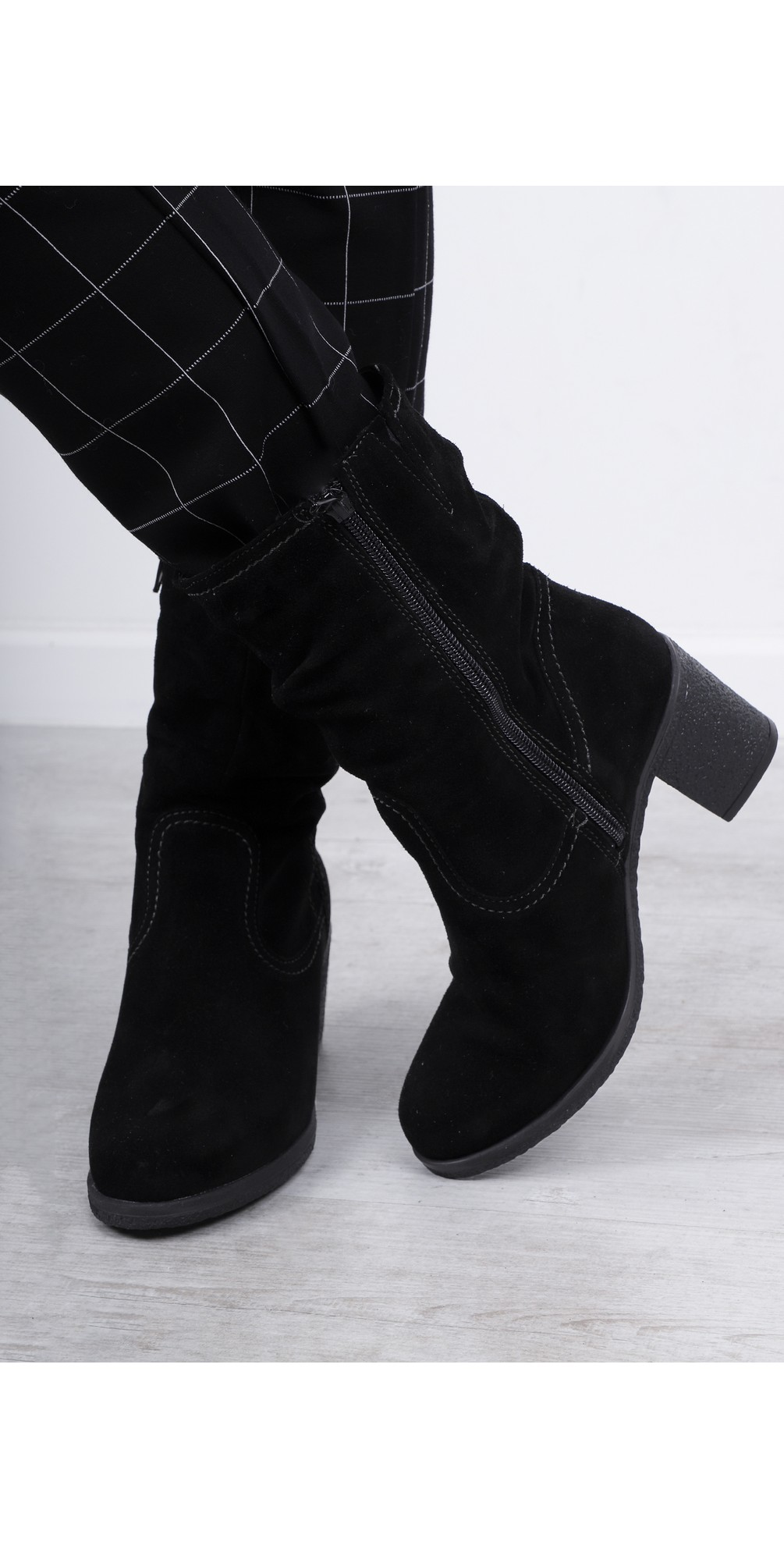 Resiea Slouch Calf Length Suede Boot main image