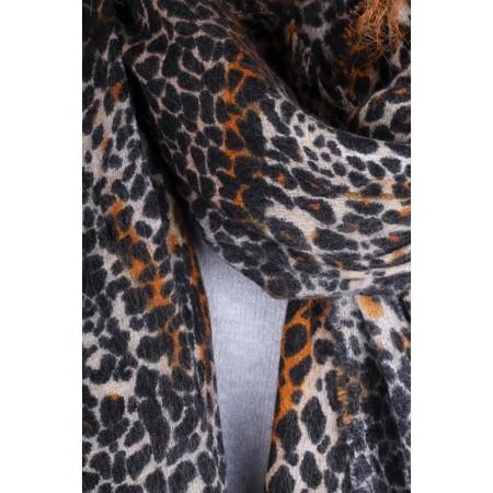 Gemini Label  Hana Supersoft Leopard Scarf - Black