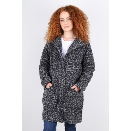 Masai Clothing Tallul Leopard Print Coat - Grey