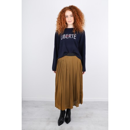 Masai Clothing Pleated Sunny Skirt - Brown