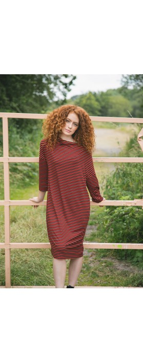 Masai Clothing Nika Dress Red Ochre Org