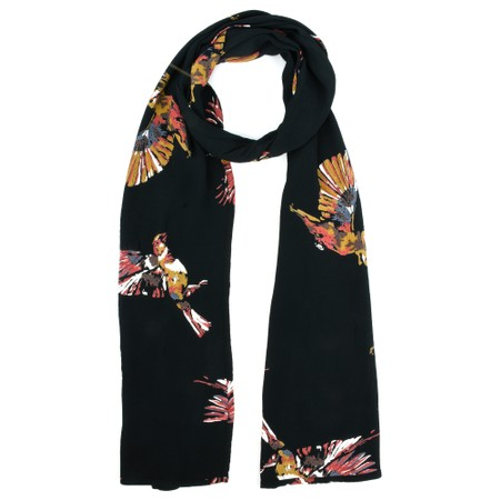 Masai Clothing Along Abstract Bird Print Scarf - Red