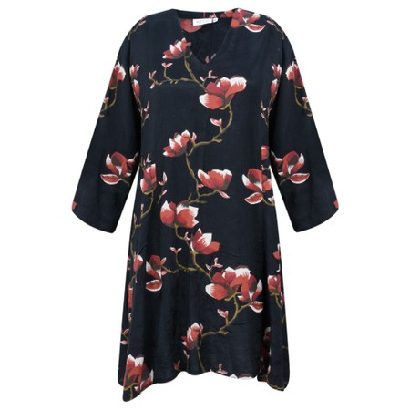 Masai Clothing Gurica Oriental Floral Tunic - Red
